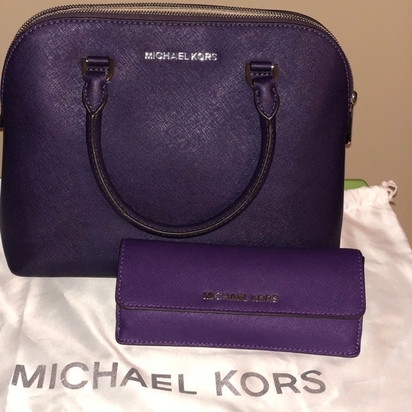 afb052cacaf3 Michael Kors Bags | Authentic Purple Mk Purse And Wallet | Poshmark